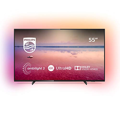 Philips 55PUS6704/12 - Smart TV LED 4K UHD, 55 pulgadas, Resolución de pantalla 3840 x 2160, Relación de aspecto 16:9,  Negro brillante