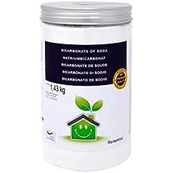 Nortembio Bicarbonato di sodio 1,43 Kg; 2x1,43 Kg; 4x1,43 Kg, Input per la Produzione Biologica, Qualità Premium, 100% Naturale. Sviluppato in Italia.