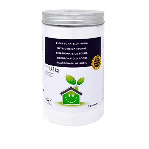 NortemBio Bicarbonato de Sodio 1.43 Kg; 2x1.43 Kg; 4x1.43 Kg, Insumo Ecológico de Origen Natural, Calidad Premium. Producto CE.