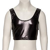 Katz Dancewear Ladies Girls Shiny Metallic Dance Tank Back Crop Top KCTM-6