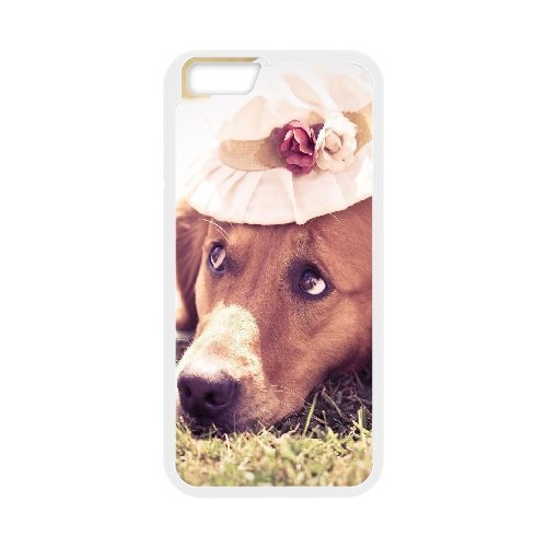IPhone 6 Case Sad Dog on the Grass, Apple Iphone 6 Case - [White] Tyquin