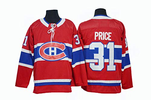 Gmjay Carey Price # 31 Hockey Trikot Montreal Canadiens Hockey Rot Genähte Buchstaben Zahlen NHL Eishockey Trikot,red,XXXL