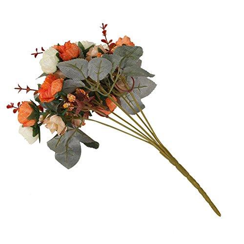 Kicode 21 Kopfstrauß Bunt Künstliche Rose Seidenblume Fähiges Zuhause Party Hochzeitshotel Restaurant