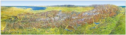 Das grosse Alpenpanorama Sommer, Poster (MAIRDUMONT Panoramen) -