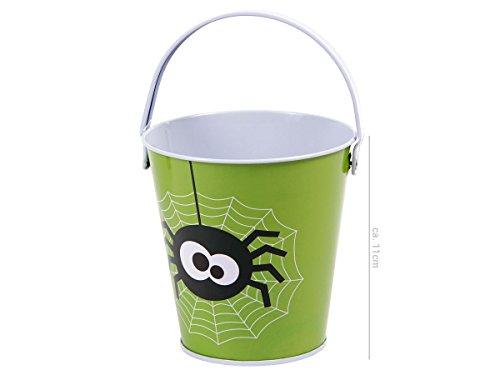 Halloween Eimer Süßigkeiten Eimerchen Candy Bucket von Alsino, Variante wählen:P977038 Spinne (Eimer Halloween)