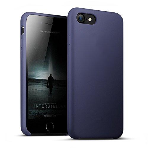 Funda iPhone 8, Fuleadture iPhone 7 Slim Líquido de Silicona Gel Carcasa Alta Calidad Anti-Rasguño y Resistente Huellas Dactilares Totalmente Protectora Caso Cover Case para Apple iPhone 7/ 8 (4.7')
