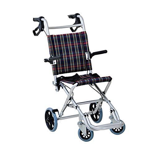 LXYFMS Faltendes Ultralight tragbares Rollstuhlkind alterte Rollerreiseflugzeuglaufkatze Rollstuhl (Size : B) -