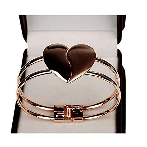 tte Schmuck Mode Elegante Herzförmige Manschetten Bling Geschenke (Gold) ()