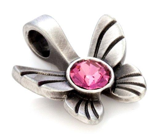 Bico Papillon Pendentif Cristal (MS10) - transformation personnelle, grâce et joie de vivre - Cristal De Swarovski Icône de Mode Bijoux Rose
