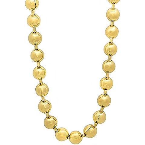 6,5 mm, placcato in oro a 14 k con catenina - Overlay Dog Tag