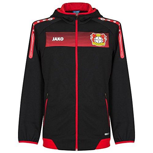 Jako Bayer 04 Leverkusen Einlaufjacke Kapuze 2016/17 schwarz-rot schwarz/rot, XXL
