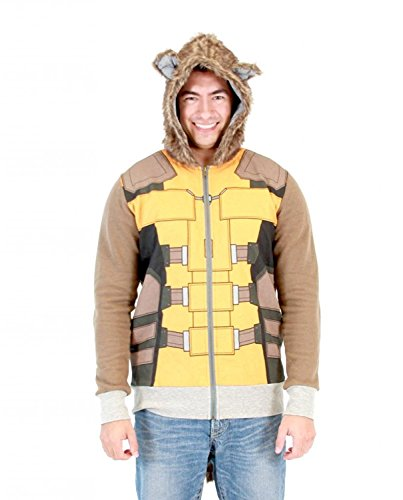 (Guardians of the Galaxy I Am Rocket Raccoon Costume Hoodie (Adult L))