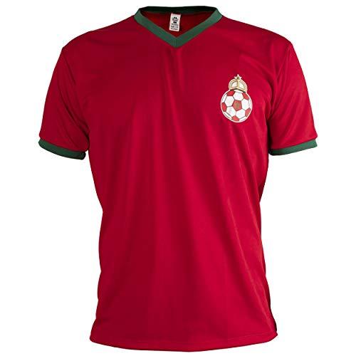 Marruecos Camiseta Retro Fútbol Manga Corta Hombre