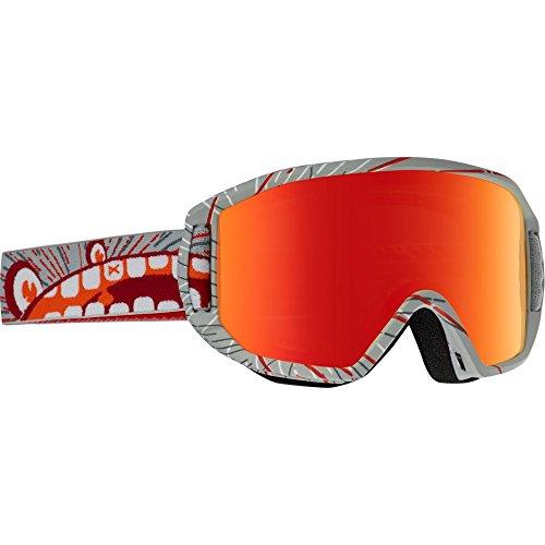 Anon-Maschera da snowboard da ragazzo, modello Relapse Jr MFI, Ragazzo, Snowboardbrille RELAPSE JR MFI, Aanon/Red Amber