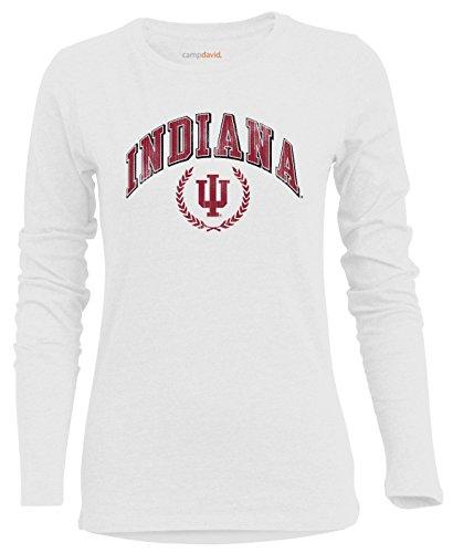 Camp David NCAA Indiana Hoosiers Damen BFF 2 Long Sleeve Crew Neck Tee, XXL, Weiß -