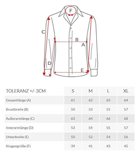 OZONEE Herren Hemd Langarm Businesshemd Figurbetont OZN31 Dunkelblau