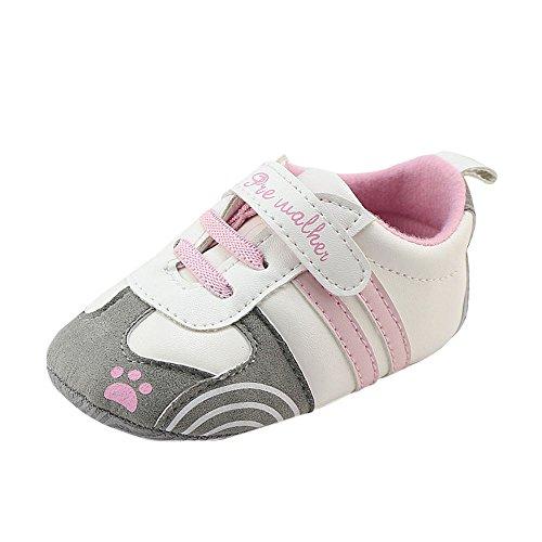 Fossen Bebe Niña Zapatos Recien Nacido Primeros Pasos Antideslizante Suela Blanda Zapatos...