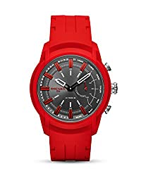 Diesel Watches On Mens Armbar Red Silicone Hybrid Smartwatch Dzt1016 Watch