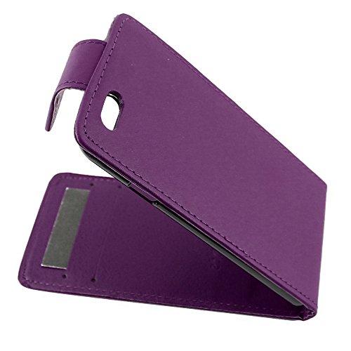"""ebestStar - pour Apple iPhone 6S 6 Plus écran 5,5"""" - Housse Coque Etui Flip Simili Cuir à Rabat vertical + Film protection écran en VERRE Trempé, Couleur Noir [Dimensions PRECISES de votre appareil :  Violet"""