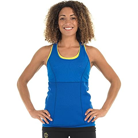 Zaggora hottop perdita di peso in neoprene Fat Burn Canotta da donna, colore: blu - Burner Tee