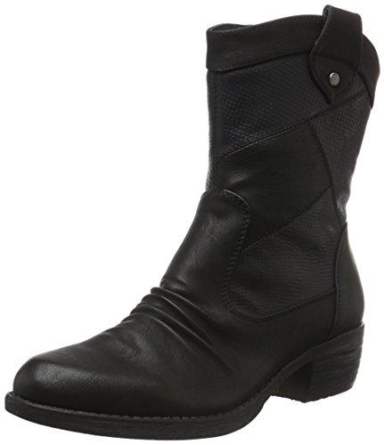 Rieker 93164, Bottes Classiques Femme Noir (Schwarz/Schwarz/Schwarz/00)