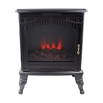 Amberglo Electric Stove in Black