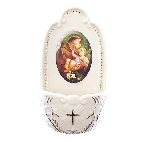 Florentina Sammlung (Porzellan St. Anthony Kleine Holy Wasser Schriftart 12,7cm Florentiner Sammlung katholischen Geschenk)