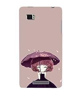 EPICCASE Little Girl with Umbrella Mobile Back Case Cover For Lenovo Vibe Z K910 (Designer Case)
