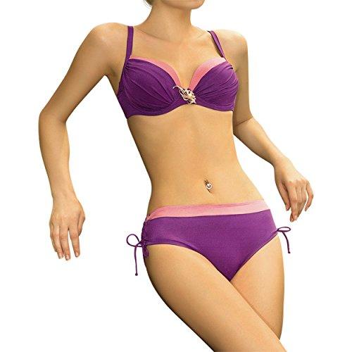 Anabel Arto Bademoden Beachfashion Bikini pink lila Lila