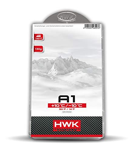 HWK Skiwachs A1 Allround 180g | Wachs für Alpinski, Snowboards und Langlaufski | Erhöht die Gleiteigenschaften