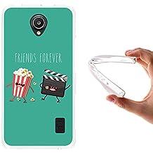 WoowCase - Funda Gel Flexible { Huawei Ascend Y635 } Friends Forever Palomitas y Cine Carcasa Case Silicona TPU Suave