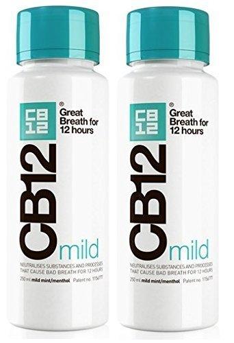 CB12 250ML 2 PACK MILD MINT Safe Breath Oral Care Agent (Spray Mint Mild)