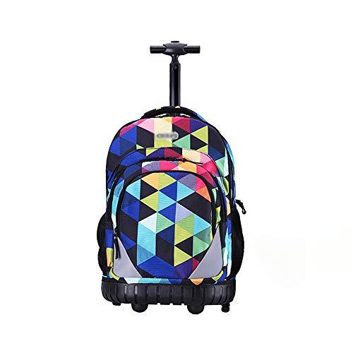 XHHWZB Rollender Rucksack Handgepäck Koffer 19 Zoll für Laptops 17-Zoll mit Regenschutz, Schwarz (4 Räder) (Farbe : A)