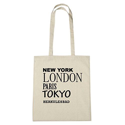 JOllify Ercole da bagno di cotone felpato B4242 schwarz: New York, London, Paris, Tokyo natur: New York, London, Paris, Tokyo