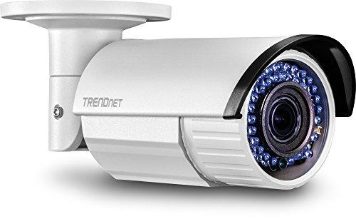 TRENDnet Indoor/Outdoor Stift -Stil 2 Megapixel 1080p Varifokal PoE IR-Netzwerkkamera, Wetterschutzklasse IP66, Verstellbare Linse, Manueller Zoom, Digital WDR, TV-IP340PI Digital Outdoor Tv