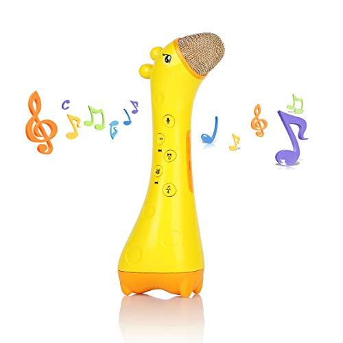 (VinMas Räumungsverkauf!! Kid Karaoke Mikrofon, Magic Voice Wireless Bluetooth Lautsprecher Spielzeug Geschenk entwickeln Intelligenz Story Machine)