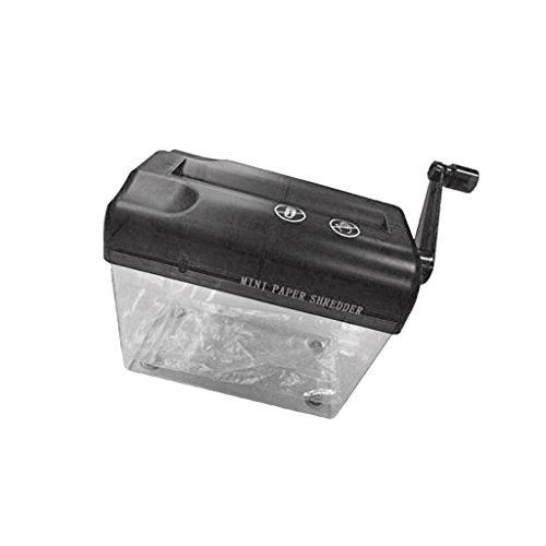 Mini Portable Manuel Destructeur de Documents A6 Compacte à Coupe-papier - Noir
