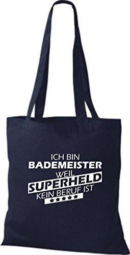 Tote Bag Shirtstown Sono Un Maestro Del Bagno Perché Il Supereroe Non È Una Professione Marina