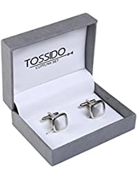 tossido White Stone Cuff-Link for Men