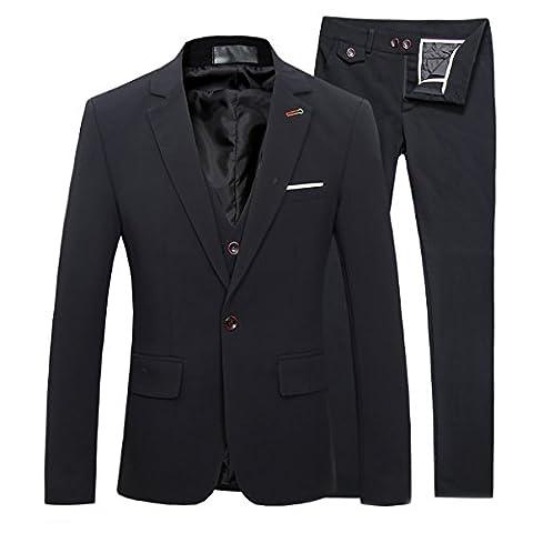 Cloudstyle Herren 3-Teilige Anzüge Business stilvoll einreiher Smoking Hochzeit Abschlussball