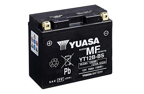 Batteria YUASA YT12B-BS, 12V/10AH (dimensioni: 150X 69X 130) per Ducati 821Hypermotard SP anno di costruzione 2015