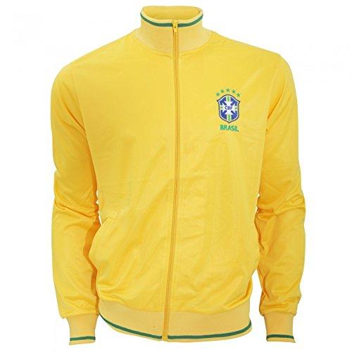 Brasil CBF - Sudadera Oficial de la selección de Brasil de Fútbol con Escudo en el Pecho - Premier League/Fútbol (Grande (L)/Amarillo)