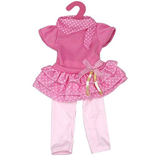 Schöne Puppen Kleidung für 18 Zoll amerikanische Mädchen Puppen Kleidung - Rosa+Rosa Rot - Für Mädchen 18 Puppen