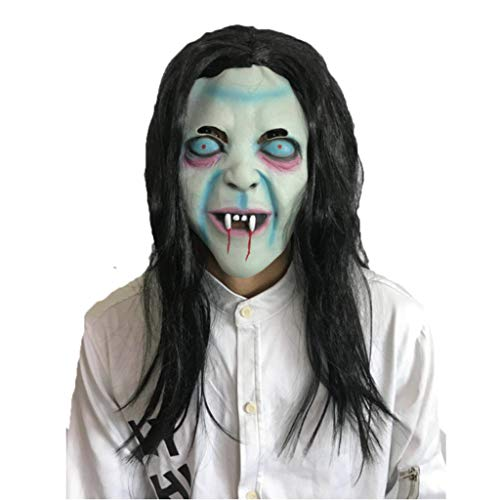 PPM Halloween Horror Hexen Maske Langes Haar Fluchender Skorpion Geistergesicht Maskerade Show Scary Requisiten (Alte Hexe Halloween-make-up)