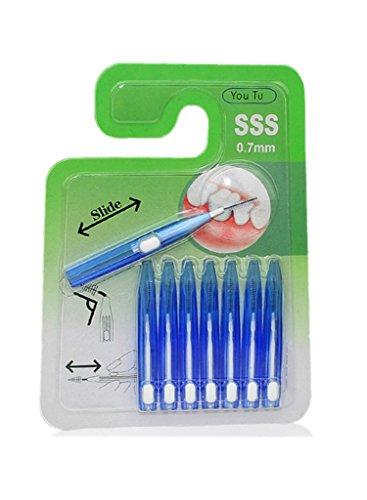 drasawee 8Paket tragbar Einziehbarer Interdental Zahn (Einziehbare Zähne)