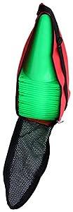 agility sport pour chiens - lot de 20 plots de délimitation 23 cm, couleur: vert clair, contient également: un sac pratique - 20x MK23hg