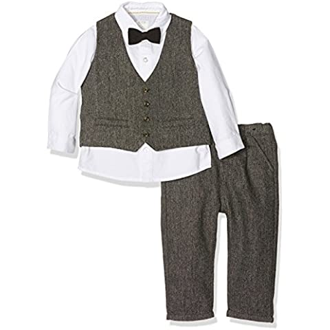 Mamas & Papas Mamas and Papas 4 Piece Grey Speckle Tweed Suit Set-Completo Bimba 0-24