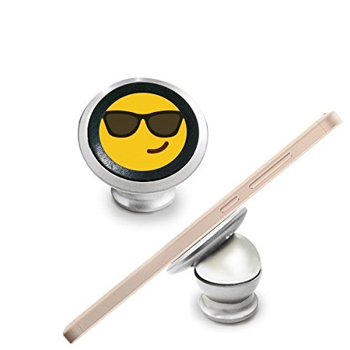 Sonnenbrille Cool gelb Cute Lovely Online-Chat Emoji-Illustration Pattern Magnetverschluss Handy Halterung Auto Armaturenbrett Halterung Für Handy 360Grad drehbar