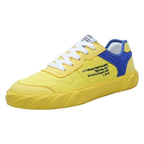 ITCHIC Scarpe da Corsa da Uomo in Mesh Traspirante Scarpe Sportive da Coppia Sneakers da Corsa All'Aperto Scarpe Color Marea Versione Coreana da Uomo di Scarpe di Tela Hip-Hop Selvagge 39-44