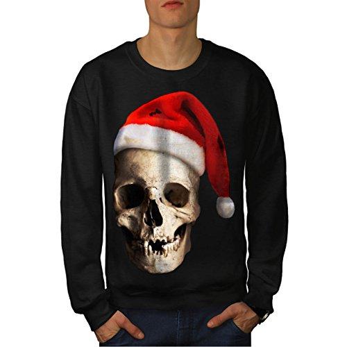 Schädel Hut Weihnachtsmann Weihnachten Weihnachten Liebe Herren S Sweatshirt | (Elf Kostüme Halloween Jahre Alt)